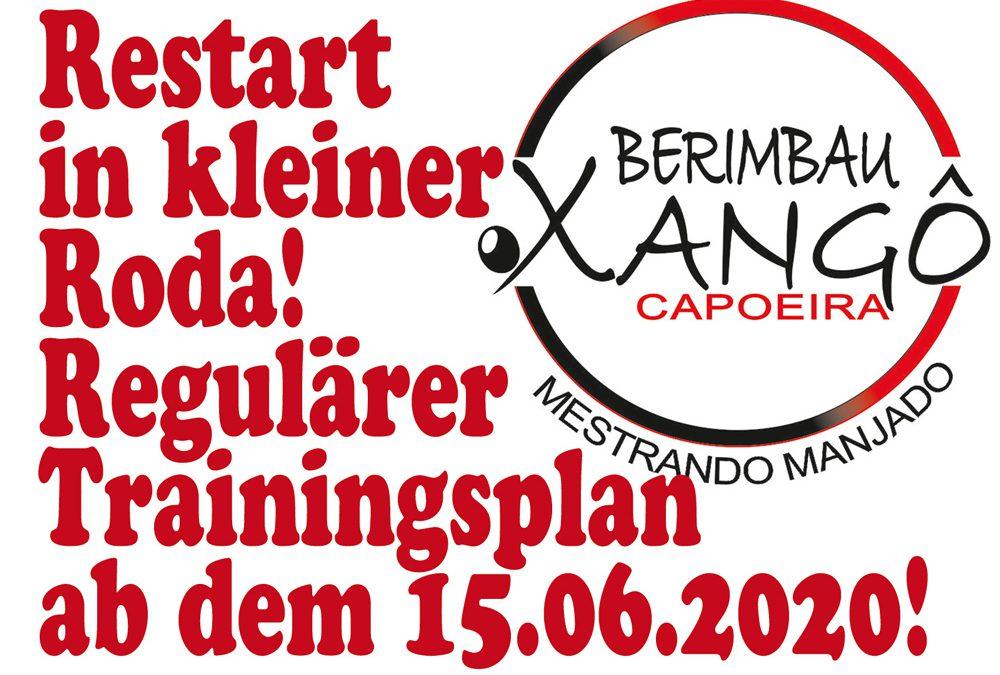 Normales Capoeira-Training in kleiner Roda wieder möglich!